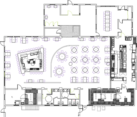 Restaurant Kitchen Layout Autocad contemporary restaurant kitchen plan dwg advertisement inside design
